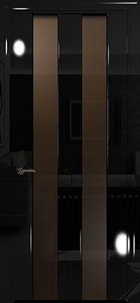 Арт Деко Vatikan Premium Глянец Амалия-2  черный глянец черный триплекс тонированный