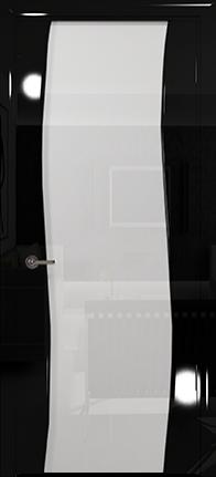 Арт Деко Vatikan Premium Глянец Вэла  черный глянец триплекс кипельно-белый