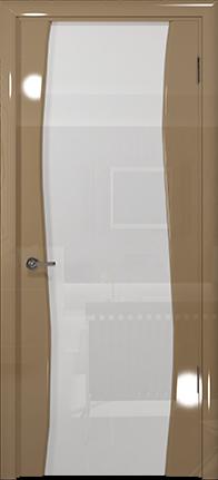 Арт Деко Vatikan Premium Глянец Вэла  бежевый глянец триплекс кипельно-белый