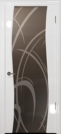 Арт Деко Vatikan Premium Глянец Вэла белый глянец триплекс мокко рисунок с пескоструйной обработкой