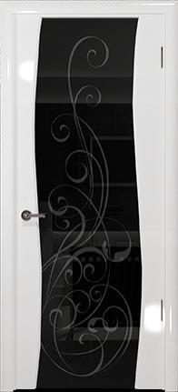 Арт Деко Vatikan Premium Глянец Вэла белый глянец триплекс черный с рисунком Альтеза
