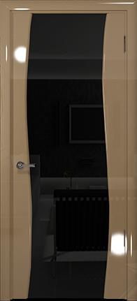 Арт Деко Vatikan Premium Глянец Вэла  бежевый глянец триплекс черный