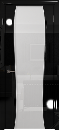 Арт Деко Vatikan Premium Глянец Лиана-3  черный глянец, триплекс кипельно-белый