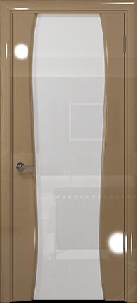 Арт Деко Vatikan Premium Глянец Лиана-3  бежевый глянец триплекс кипельно-белый