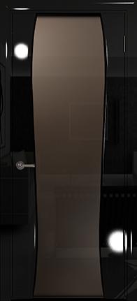Арт Деко Vatikan Premium Глянец Лиана-3  черный глянец, триплекс мокко
