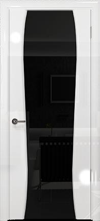 Арт Деко Vatikan Premium Глянец Лиана-3 белый глянец триплекс черный