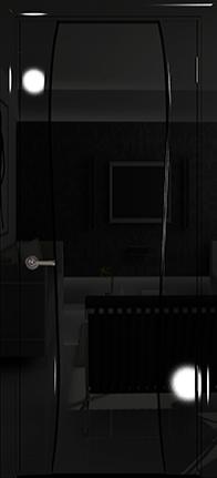 Арт Деко Vatikan Premium Глянец Лиана-3  черный глянец, триплекс черный