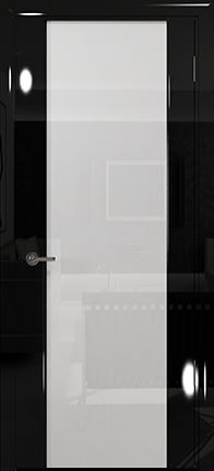 Арт Деко Vatikan Premium Глянец Спациа-3  черный глянец триплекс кипельно-белый