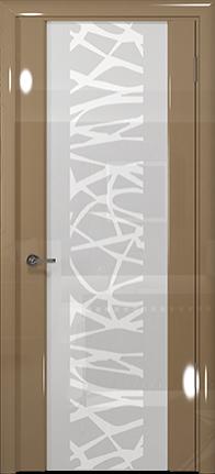 Арт Деко Vatikan Premium Глянец Спациа-3  бежевый глянец триплекс кипельно-белый с рисунком Чиза
