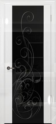 Арт Деко Vatikan Premium Глянец Спациа-3 белый глянец триплекс черный с рисунком
