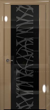 Арт Деко Vatikan Premium Глянец Спациа-3  бежевый глянец триплекс черный с рисунком
