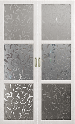 Арт Деко Vatikan Premium Трио белый ясень сатинат с рисунком