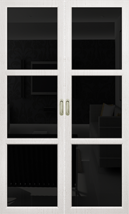 Арт Деко Vatikan Premium Трио белый ясень триплекс черный