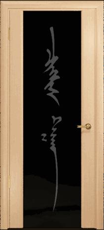 Арт Деко Стайл Спация-3 беленый дуб триплекс черный с рисунком «Чингизхан»