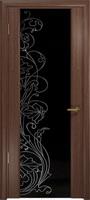 Арт Деко Стайл Спация-3 орех американский триплекс черный с рисунком cо стразами