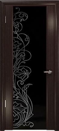 Арт Деко Стайл Спация-3 эвкалипт триплекс черный с рисунком cо стразами
