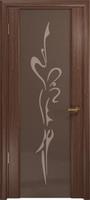 Арт Деко Стайл Спация-3 орех американский триплекс тонированный с рисунком
