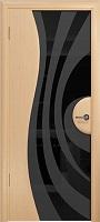 Арт Деко Стайл Ветра-1 беленый дуб триплекс черный с рисунком