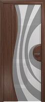 Арт Деко Стайл Ветра-1 орех американский триплекс белый с рисунком