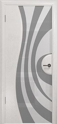 Арт Деко Стайл Ветра-1 ясень белый триплекс кипельно белый с рисунком