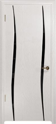 Арт Деко Стайл Вэла-2 ясень белый триплекс черный