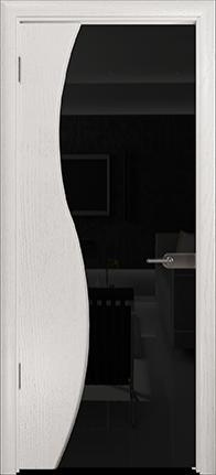 Арт Деко Стайл Ветра-3 ясень белый триплекс черный