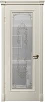 "Арт Деко Vatikan Matte  Аттика RAL 9003 (белый) полимерный контур Gold на сатинате ""Джулия"""