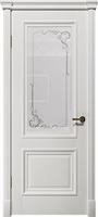 """Арт Деко Vatikan Matte  Аттика 1 RAL 9003 (белый) гравировка на сатинате """"Эстель"""""""
