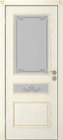 Кассия Трио ПО эмаль крем стекло «Мателюкс» белый с фрезеровкой