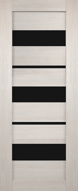 Бригантина Темпо 12 ПО велюр белый стекло лакобель черное