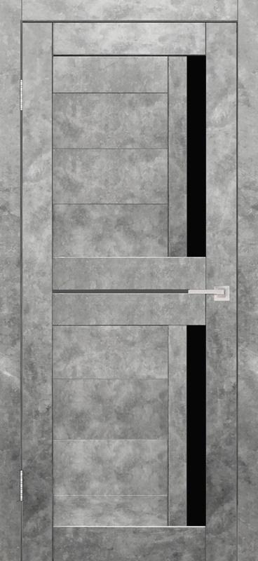 Гектор Твист ПО бетон светлый стекло лакобель черное