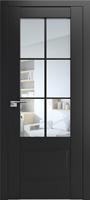 ProfilDoors 103U ПО черный матовый стекло прозрачное