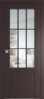 ProfilDoors 104U ПО темно-коричневый стекло прозрачное