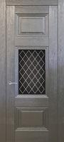 Triplex Doors Barselona Барселона 2 с рисунком Решетка ПО стекло триплекс черный