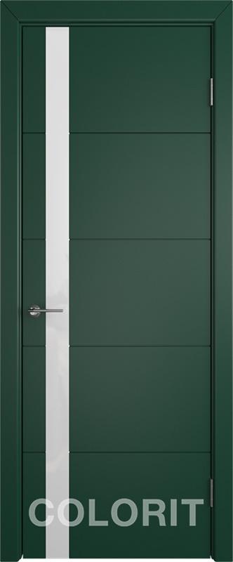 Мирра COLORIT К4 ПО зеленая эмаль стекло лакобель белый