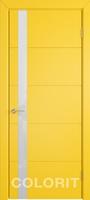 Мирра COLORIT К4 ПО желтая эмаль стекло лакобель белый