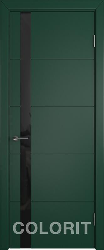 Мирра COLORIT К4 ПО зеленая эмаль стекло лакобель черный