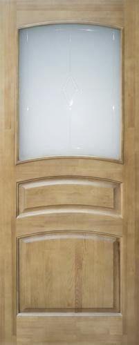 Мирра Модель 16 ПО светлый лак стекло матовое