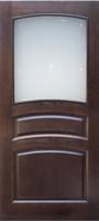 Мирра Модель 16 ПО темный лак стекло матовое