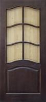 Мирра Модель 7 ПО темный лак стекло матовое