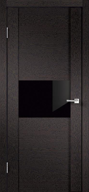 Velldoris Modern 1 ПО дуб черный стекло лакобель черное