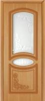 Октавия Муза ПО дуб стекло белое матовое с пескоструйным рисунком
