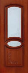 Октавия Муза ПО макоре стекло белое матовое с пескоструйным рисунком