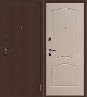 Стальная дверь Стандарт Антик Медь Классика беленый дуб