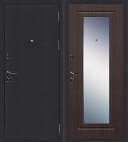 Стальная дверь Стандарт Антик Серебро Зеркало венге