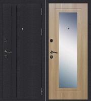 Стальная дверь Стандарт Ультра Зеркало дуб золотистый