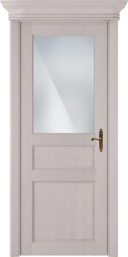 Status Classic 532 дуб белый стекло сатинато белое матовое