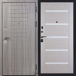 Стальная дверь Гранит C7 (белый клен)