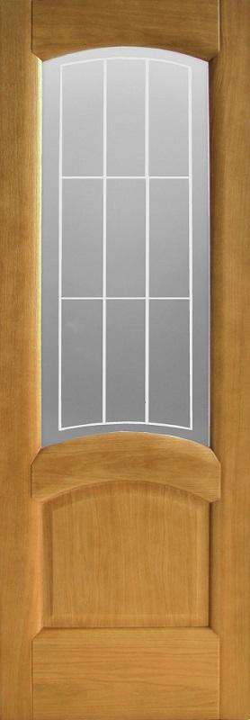 Орион Александрит ПО дуб натуральный стекло белое с пескоструйной обработкой
