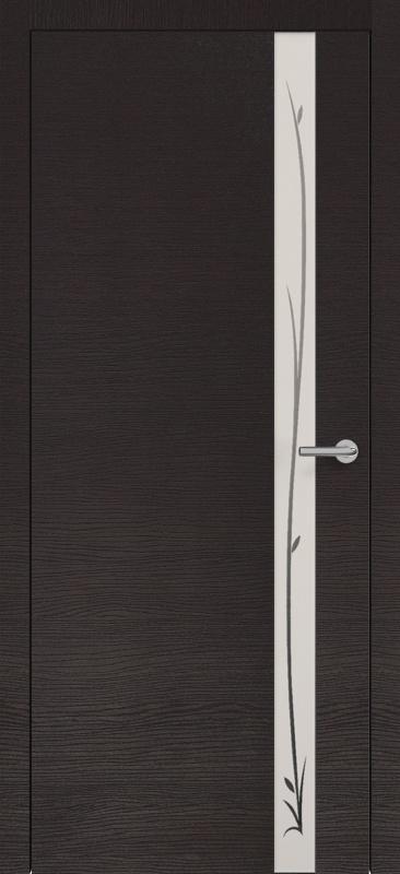 Zadoor Горизонт ПО Н2 окаша венге стекло зеркало с рисунком
